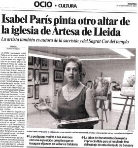 Isabel Paris en Ocio Cultura